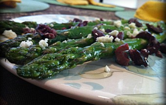 Mediterranean Roasted Asparagus Close Up
