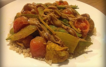 Spicy Ginger Peanut Stir Fry