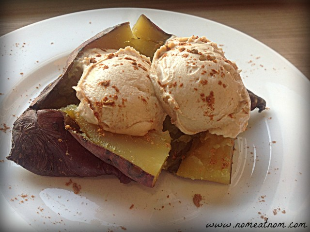 Baked Sweet Potato with Nut Butter Mousse